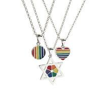 Gay Lgbt Pride Rainbow Flag Charms Pendant Necklace Men Women Unisex Jewelry