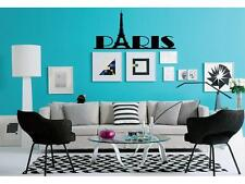 PARIS Girls Wall Decal Sticker Quote DIY Vinyl Home Decor Words Letters