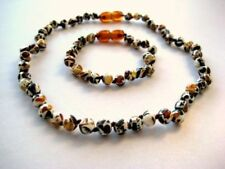 """SET OF BALTIC AMBER CHILDREN'S NECKLACE AND BRACELET """"MOSAIC"""""""