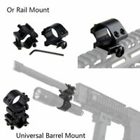2PCS High Profile Barrel Scope Mount for Flashlight Torch Laser 20mm Weaver Rail