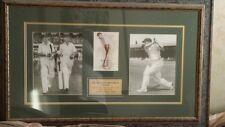 Don Bradman Signed Framed Sports Memorabilia - Original & Pristine Condition