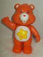 "Laugh A Lot Orange Care Bear 4"" Rattle Plastic Baby Toy Non Poseable Figure"