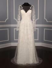 AUTHENTIC Monique Lhuillier Karlotta Ivory NEW Wedding Dress 6 RETURN POLICY