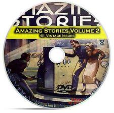 Amazing Stories Vol 2, 61 Classic Pulp Magazine, Fiction, Hugo Gernsbeck DVD C32
