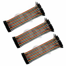 3X 40PCS Dupont wire jumpercables 20cm 2.54MM Female to Female 1P-1P For Arduino
