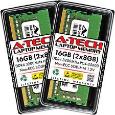 A-Tech 16 ГБ 2x 8 ГБ PC4-25600 для ноутбука Sodimm DDR4 3200 МГц Non-ECC память ОЗУ 16G