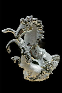 ITALIAN SILVER HORSE ROMANY GYPSY CHINA ORNAMENT CERAMIC CENTER PIECE GIFT BLING