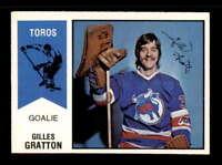 1974 O-Pee-Chee WHA #65 Gilles Gratton RC NM X1510432