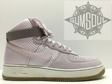 WOMEN'S NIKE AIR FORCE 1 HI PRM BLEACHED LILAC SUEDE 654440 500 sz 12