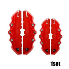 2 Pair 3D Style Red Car Disc Brake Caliper Covers Rear & Front Universal Useful