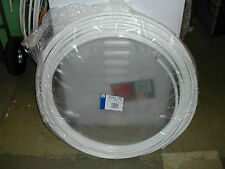 25m Coil 10mm Copper Pipe / Tube, White Plastic Coated (Indicates Oil)