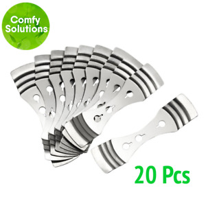 20 x STAINLESS STEEL Centering Wick Holders Metal Candle Making Supples Soy Wax