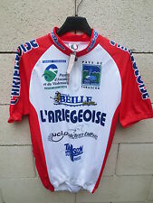 Maillot cycliste L'ARIEGEOISE Tarascon cycling shirt UCI Golden Bike MB L *NEUF*