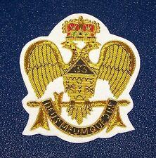 Masonic Mason Freemasonry Rite Eagle Bullion Badge Patch Master Lodge 33 Degree