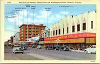 1940s PHOENIX Washington Street Woolworths Chain Stores ARIZONA Postcard CI
