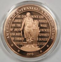 1975 America's Bicentennial (George Washington) Franklin Mint Solid Bronze Medal