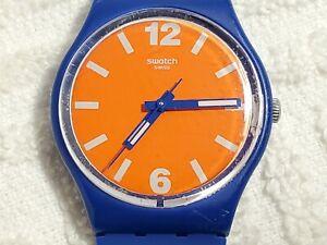 Vintage Swatch Swiss Made Motorino Quartz Watch Orange Blue Unisex