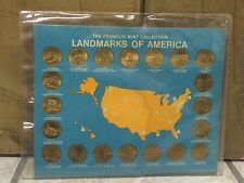 1969 Franklin Mint Landmarks Of America Complete 20 Piece Coin Set
