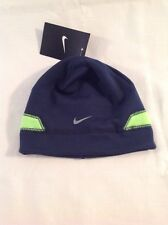 Boys Youth Nike Skull Cap Hat Beanie Blue Lime 8-20 NWT