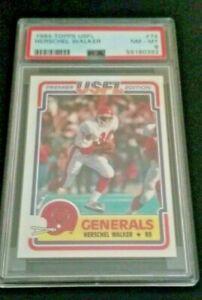 1984 USFL Herschel Walker #74 Rookie RC PSA 8 NM-MT