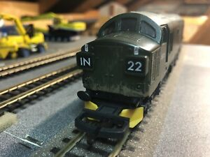 Lima OO Class 37 DCC. BR, Lion And Wheel Logo. Number  D6722. Lightly Weathered.
