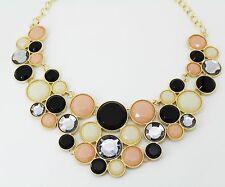 INC International Concepts Gold-Tone Multi-Stone Circle Drama Necklace