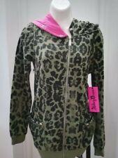 Felpa leopardata con grande cappuccio Abbey Dawn Avril Lavigne tg S