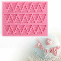 2019 1pc Letter Flag Lace Silicone Mold Cake Decorating Mould Baking Chocol O0P4