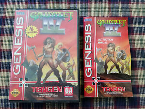 Gauntlet IV 4 - Authentic - Sega Genesis - Case / Box and Manual Only!
