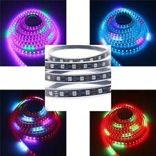 5M WS2811 RGB LED Strip Dream Color 5050 60Leds/M Light Tube WP IP67 12V Black