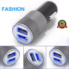 Mini Dual USB 2 Ports 12V Universal In Car Lighter Socket Charger Adapter Plug