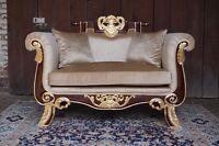 EN PROMOTION: splendid grand fauteuil canapé doré à la feuille d'or d'un château