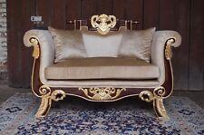 Grand fauteuil pour palais canapé salon doré à la feuille d'or d'un château