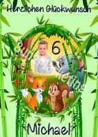 Tortenaufleger Tortenbild Dschungel Cake individuell Wunschtext und Foto (0011)