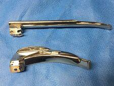 Rusch 2 Blade Pack Mac 3 & Miller 3 Laryngoscope Blades w/Blub, tested