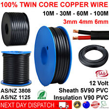 New 3mm 4mm 6mm Twin Core Automotive Battery Copper Cable 3 4 6 Dual 2 Wire 12v