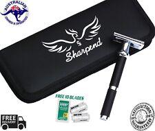 SHARPEND Safety Razor & 10 Double Edge Blades Classic Shaving Vintage Adjustable