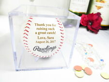 Personalized Baseball Thank You Raising Man of my Dreams Father in Law Gift Cube
