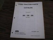 ORIGINAL FORD TRACTOR PARTS CATALOG 9N - 2N - 8N , 1939/1952