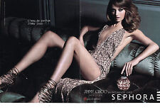 PUBLICITE ADVERTISING  2012   JIMMY CHOO  pour SEPHORA ( 2 pages)