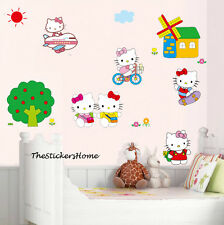 Grandes HELLO KITTY 21 pièce filles chambre amovible Wall Stickers Art Decal Pépinière