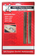 HSS PLANER BLADES 260mm to fit KITY 1637 636, 637 planers  2602025