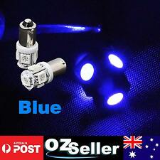 6pcs Super Blue BA9S T4W LED Car Interior Dome Festoon Bulbs Light Replacement