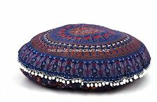 Indian Elephant Mandala Cotton Floor Cushion Cover Bohemian Hippie Pillow Cover