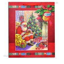 1 X Small Rosso Lusso Borsa Regalo di Natale - 3D Sacchetto di carta glitter decorativi