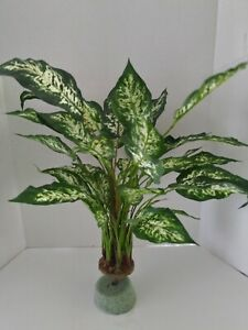 Artificial spotted dieffenbachia plant W/O POT Silk Flower Floral Arrangements
