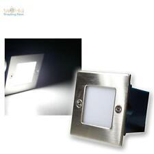 8er Set LED-Wandeinbauleuchte Boden Treppenleuchte 230V kaltweiß Edelstahl Spots