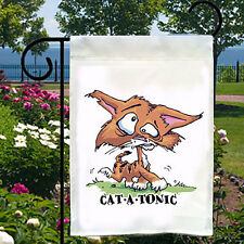 New listing Catatonic Cat New Small Garden Yard Flag Banner Decor Fun Gifts Events