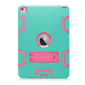 For Apple iPad Air 2 Kids Safe Shockproof Heavy Duty Silicone Hard Armor Case