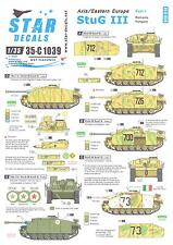 Star Decals 1/35 STUG III Axis in Eastern Europe Part 1 Romania & Hungary